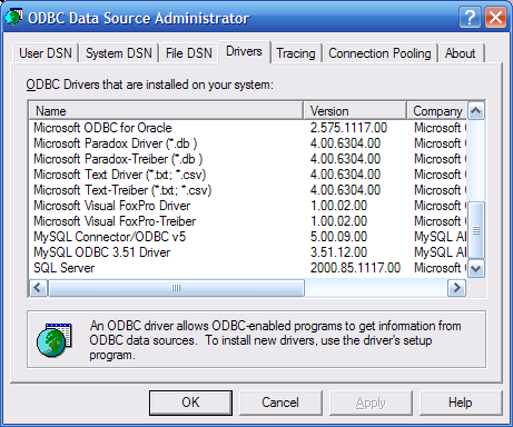 install oracle odbc driver configuration
