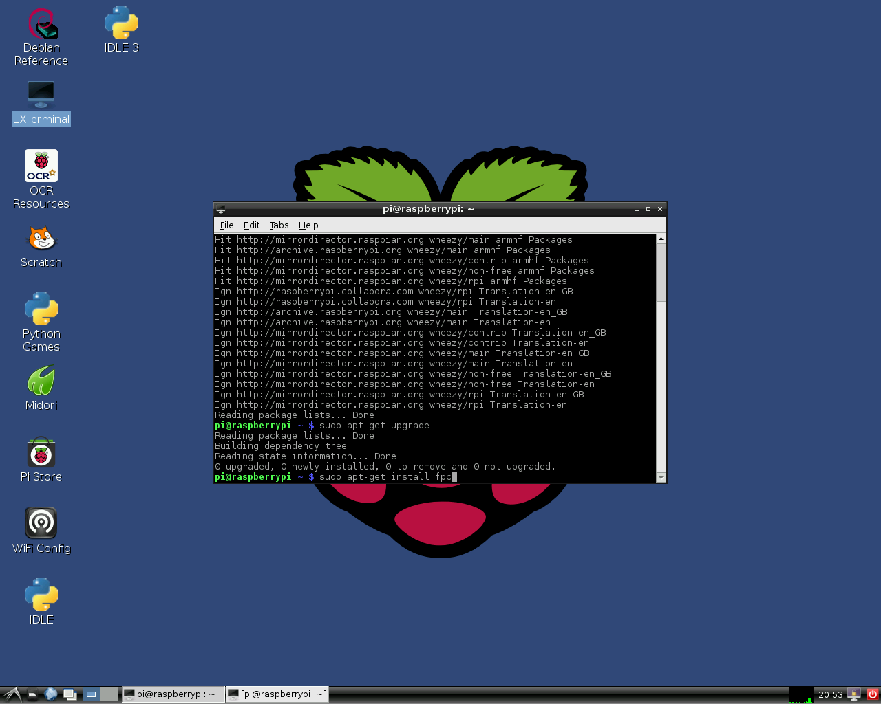 Lazarus On Raspberry Pi Free Pascal Wiki Wiringpi Orange Pc Installing And Compiling