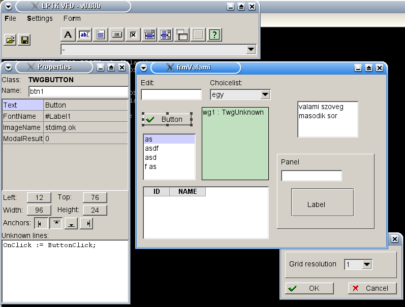 Light Pascal ToolKit Screen